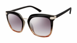 Tahari Women's TH712 Cat-Eye Sunglasses with Metal Accents & 100% UV Protection 53 mm