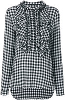Ermanno Scervino checked frill blouse