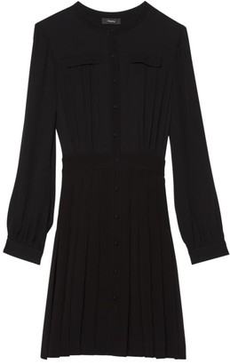 Theory Pleated Shirtdress