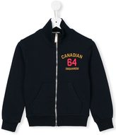 DSQUARED2 logo zip front sweatshirt