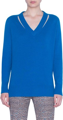 Akris Punto Luna Cutout Wool & Cashmere Sweater