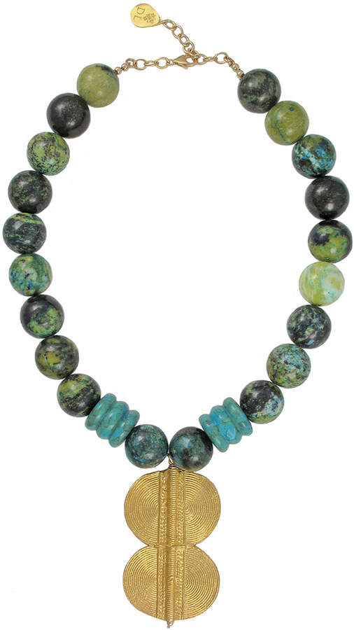 Devon Leigh Turquoise & Chrysocolla Pendant Necklace