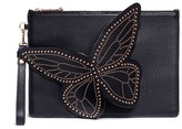 Sophia Webster 'Flossy' studded 3D butterfly leather clutch