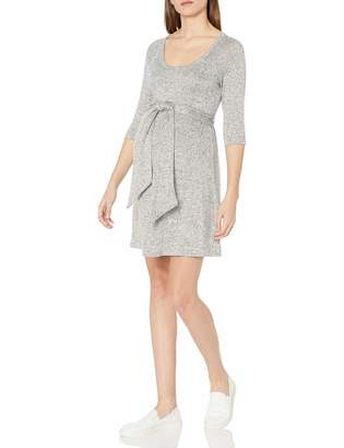 Maternal America Women's Scoop Neck Front Tie Dress Grey XS