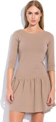 FUTURO FASHION Womens Classic Mini Skater Dress with Zipper Sizes 8-12 FA497