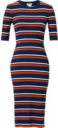 Jason Wu Stripe-Print Knitted Midi Dress