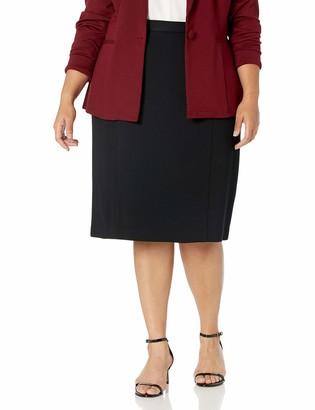 Kasper Women's Petite Solid Compression Skirt