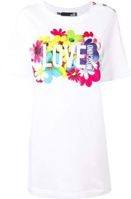 Love Moschino printed T-shirt dress
