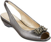 Liz Claiborne East Fifth east 5th Helena Embellished Slingback Pumps