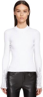 Ermanno Scervino Viscose Blend Knit Sweater W/crystals