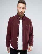 Lee Buttondown Brushed Oxford Shirt Maroon