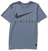 Nike Dri-Blend Mesh Swoosh Athlete Training T-Shirt