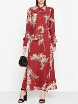 McQ Printed Tie Detail Maxi Dress