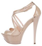 Casadei Patent Leather Platform Sandals