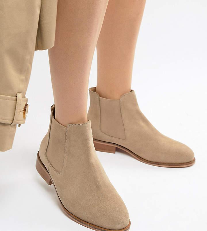 8e0e06e2519 Wide Fit Suede Chelsea Boots