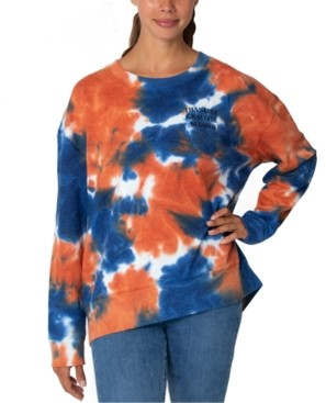 Rebellious One Juniors' Tie-Dyed Thankful Graphic Sweatshirt