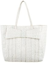 Zac Posen Embossed Leather Tote