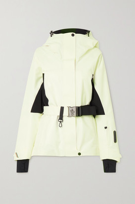 MONCLER GRENOBLE Paquier Belted Two-tone Padded Shell Down Jacket - White
