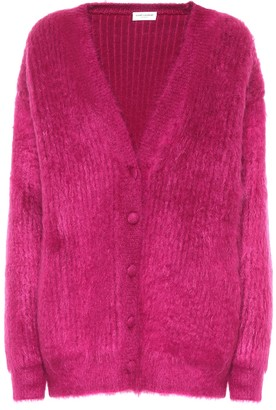 Saint Laurent Wool and mohair-blend cardigan