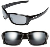 Oakley Women's Straightlink 61Mm Sunglasses - Black/ Black Iridium