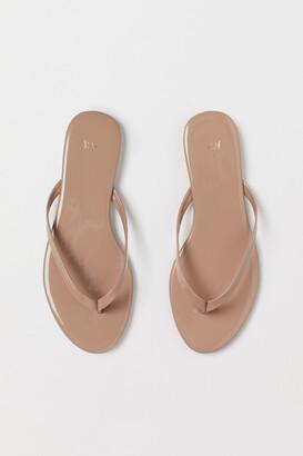 H&M Patent Flip-flops