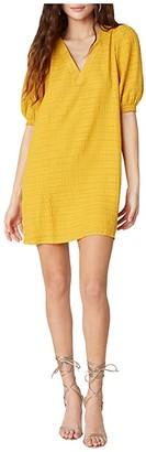 BB Dakota Fields of Gold Textured Stripe Gauze Shift Dress (Sunny Yellow) Women's Dress