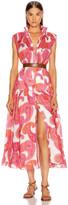 Zimmermann Peggy Sleeveless Shirt Dress in Magenta Ivory Paisley | FWRD