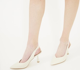 Office Morticia Sling Back Court Heels Off White