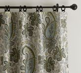 Pottery Barn Charlie Paisley Drape with Blackout Liner