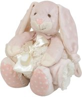 Stephan Baby Super-Soft Knotty Bunnie and Bumpy Plush/Shaggy Sherpa Security Blanket Set