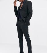 Heart N Dagger Heart and dagger skinny suit pants in black