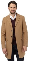 J By Jasper Conran Big And Tall Tan Wool Rich Epsom Coat