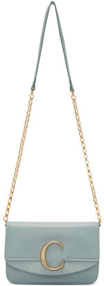 Chloé Blue C Chain Clutch Bag