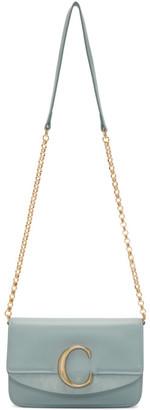 Chloé Blue C Chain Clutch Bag
