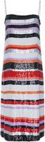 Jeffrey Dodd Striped Sequin Midi Dress