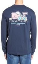 Vineyard Vines Men's Hanukkah Whale Pocket Long Sleeve T-Shirt