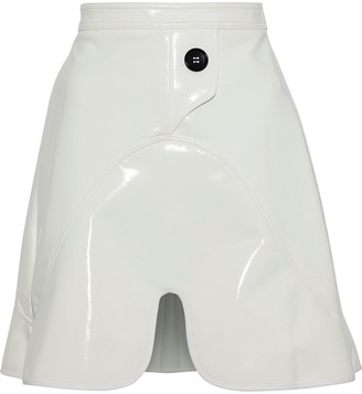 Ellery Milky Way Faux Patent-leather Mini Skirt