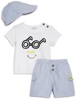 Absorba Boys' Hello Tee, Shorts & Hat Set