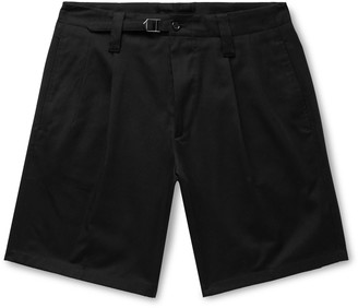 Dolce & Gabbana Pleated Cotton-Blend Drill Shorts
