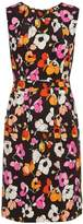 Oscar de la Renta Sleeveless floral-print silk pencil dress