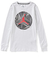 Jordan Big Boys 8-20 Lunar Jumpman Long-Sleeve Tee