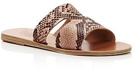 Ancient Greek Sandals Women's Apteros Flat Slide Sandals