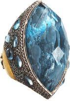 Sevan Biçakci Dolphin Carved Blue Topaz Ring