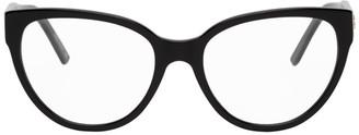 Balenciaga Black Acetate Cat-Eye Glasses