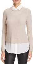 C by Bloomingdale's Layered-Look Waffle Knit Cashmere Sweater