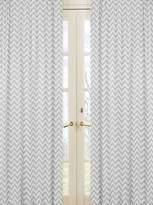 JoJo Designs Sweet Chevron Window Treatment Panels for Black and Grey Zig Zag Bedding Collection - Set of 2