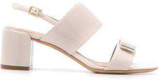 Salvatore Ferragamo Giulia mid-heel bow sandals
