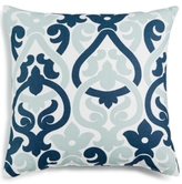 "LAST ACT! Hallmart Collectibles Blue Scroll Damask 18"" Square Decorative Pillow"