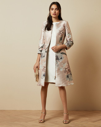 Ted Baker CONIIEY Woodland Print Dress Coat