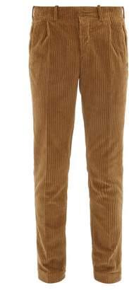 Incotex Verve Slim Fit Corduroy Trousers - Mens - Brown